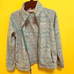 Girls Columbia chevron jacket medium 10/12